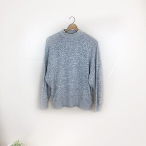 [Topshop] Gray Mock Neck Sweatshirt
